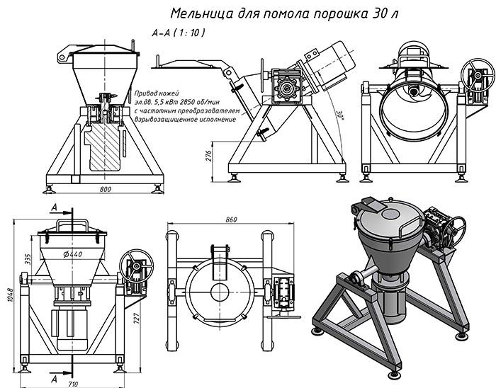 Изготовление дробилки для переработки пластика или пластмассы