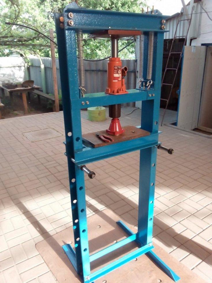 Самодельный пресс из домкрата: 135 фото и видео инструкция постройки механического пресса