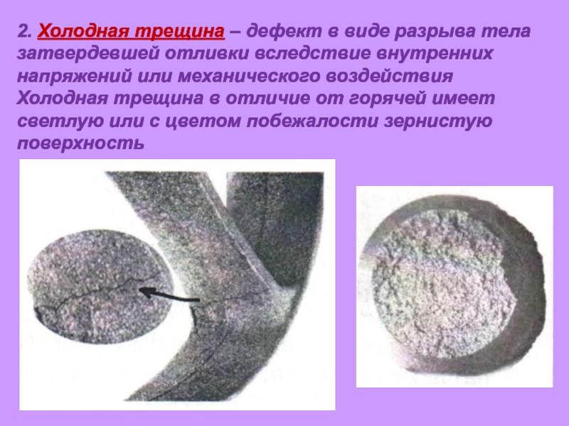 Дефекты чугунного литья