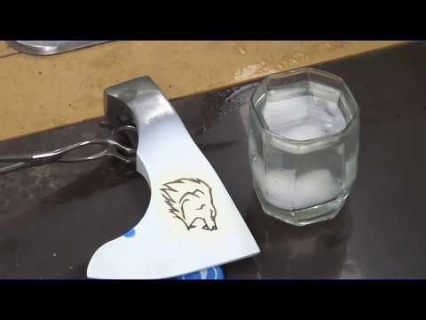 Простой способ электрохимического травления рисунков на металлах