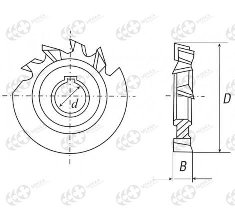 Модульные фрезы для нарезки зубьев зуборезные дисковые по металлу: конструкция, гост