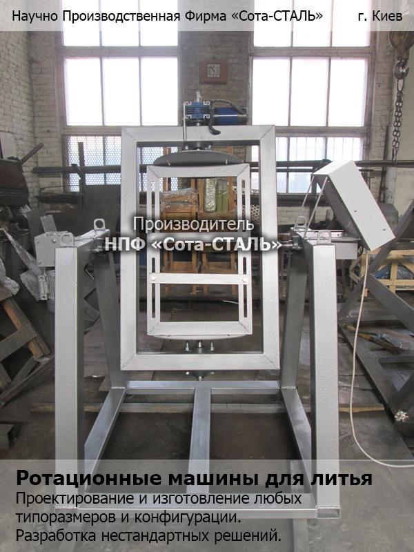 Ротационное литье: станок ротационного литья полиуретана