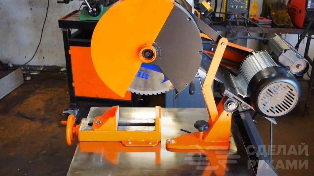 Отрезной станок по металлу своими руками: технология изготовления