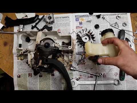Как установить масляный насос на бензопилу штиль