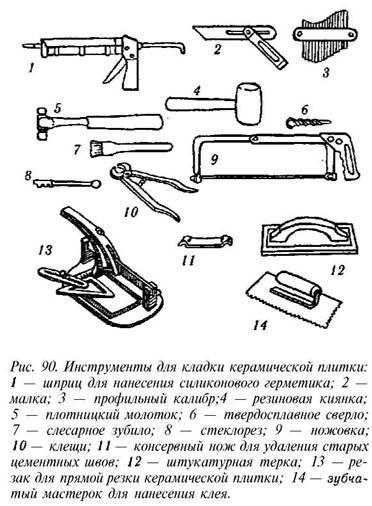 Инструмент для укладки плитки для выполнения работ на разных этапах