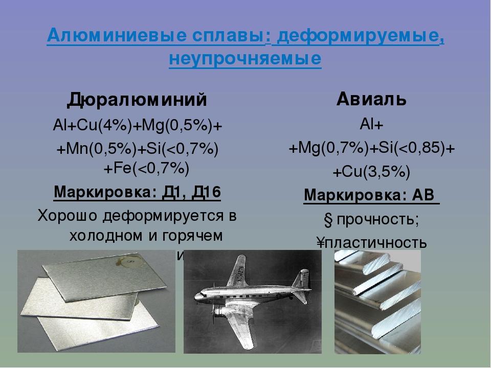 Алюминиевые сплавы: классы, серии и обозначения