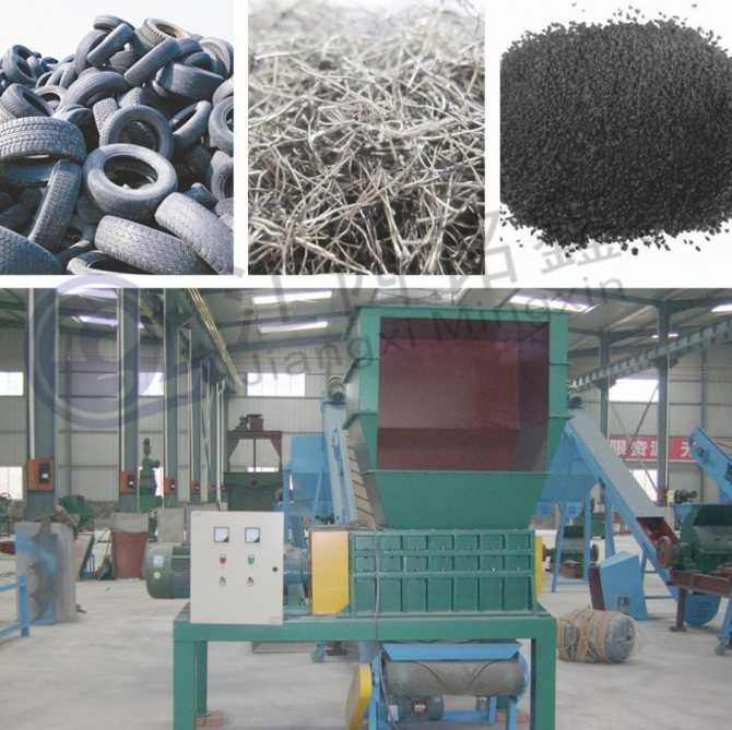Переработка шин как бизнес - оборудование для переработки резиновых шин в резиновую крошку и дизельное топливо, бизнес план, технология, станок, линия