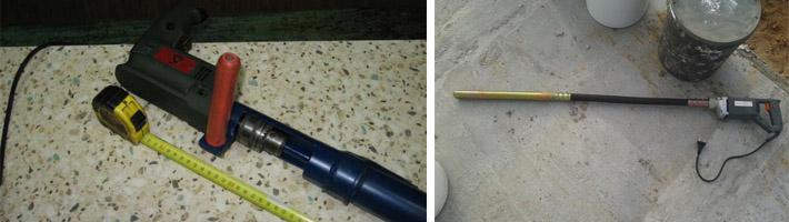 Вибронасадка на перфоратор для бетона - как сконструировать глубинный вибратор под дрель и перфоратор