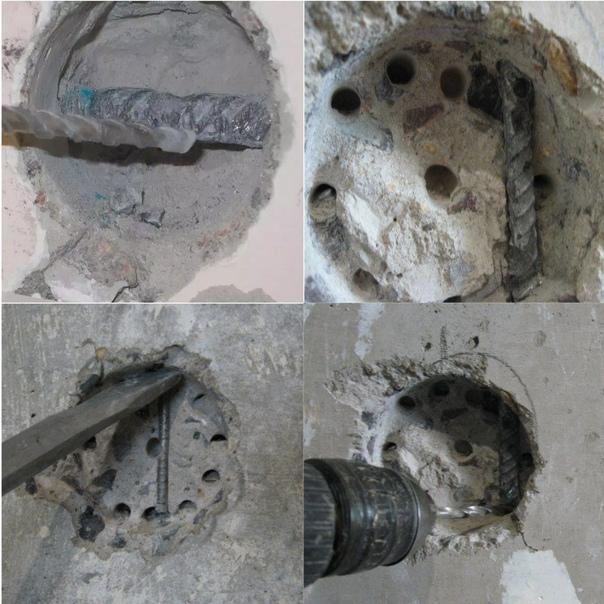 Как просверлить бетонную стену с арматурой - клуб мастеров