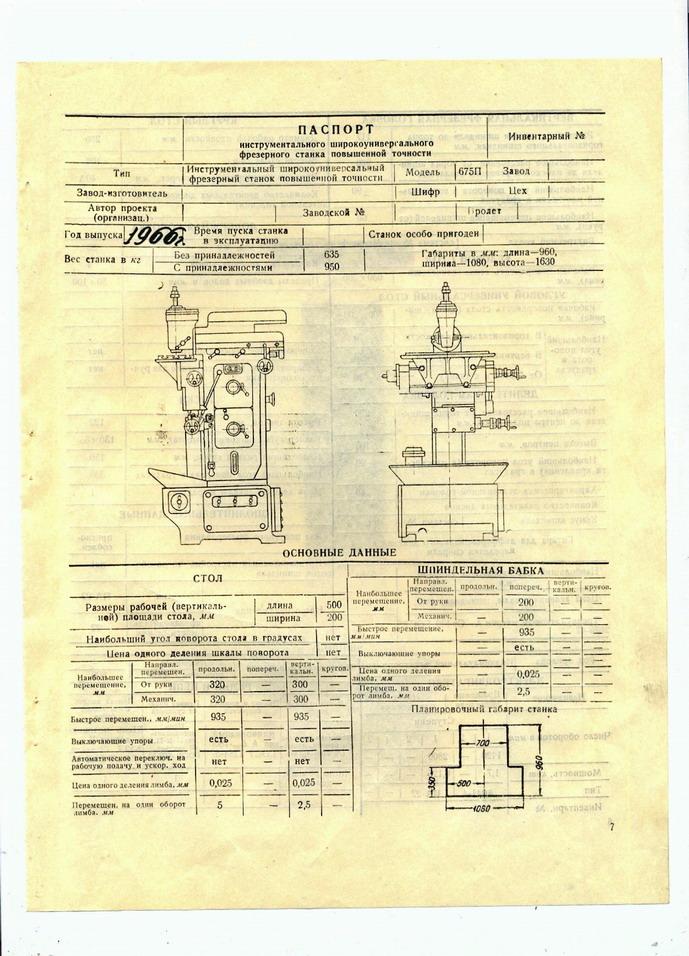 Фрезерный станок 675п: технические характеристики