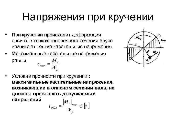 Деформация кручения напряжение, определение, примеры, формула | строитель промышленник