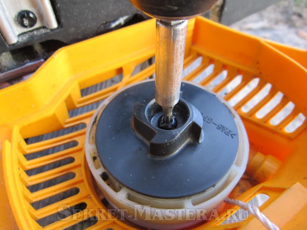 Стартер для бензопилы — устройство, ремонт, сборка, видео
