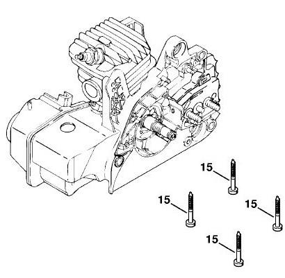 Замена поршневой группы бензопилы Stihl MS-250 (250c)