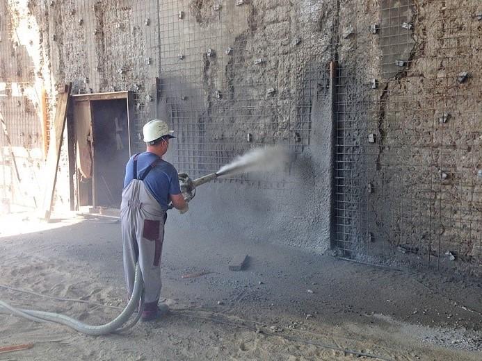 Применение торкрет-бетона, преимущества технологии торкретирования - путцмайстер