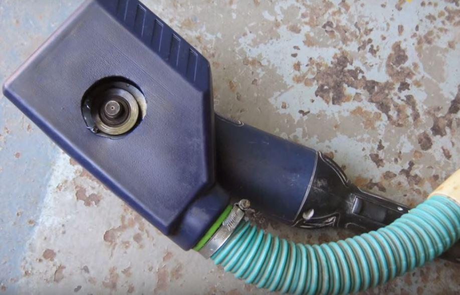 Как подключить пылесос к болгарке