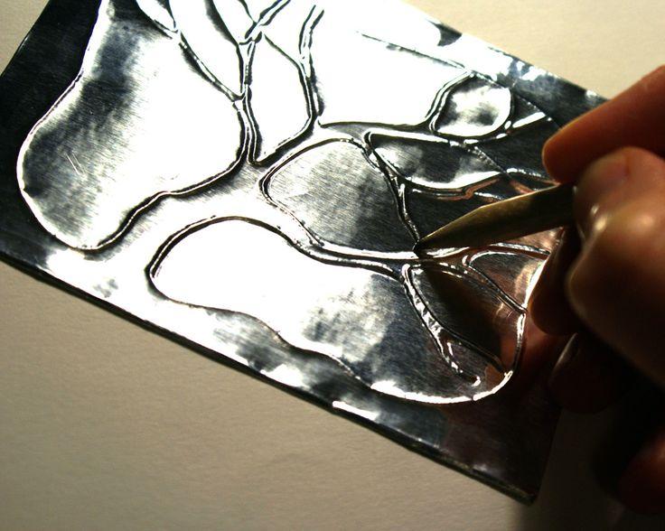 Картина из фольги своими руками. мастер-класс