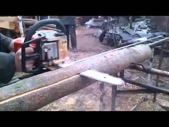 Как сделать пилораму из бензопилы своими руками?