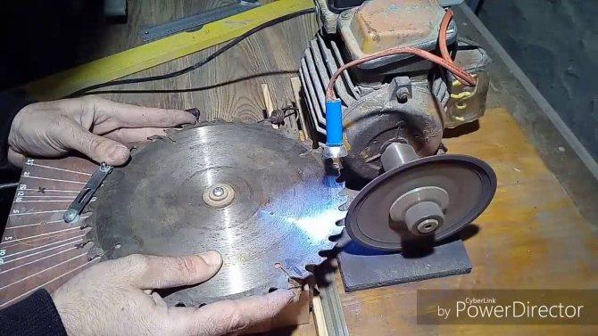 Заточка пильных дисков: принципы и углы заточки