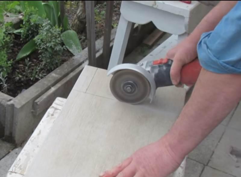 Как резать плитку болгаркой – основные правила работы, типы резки