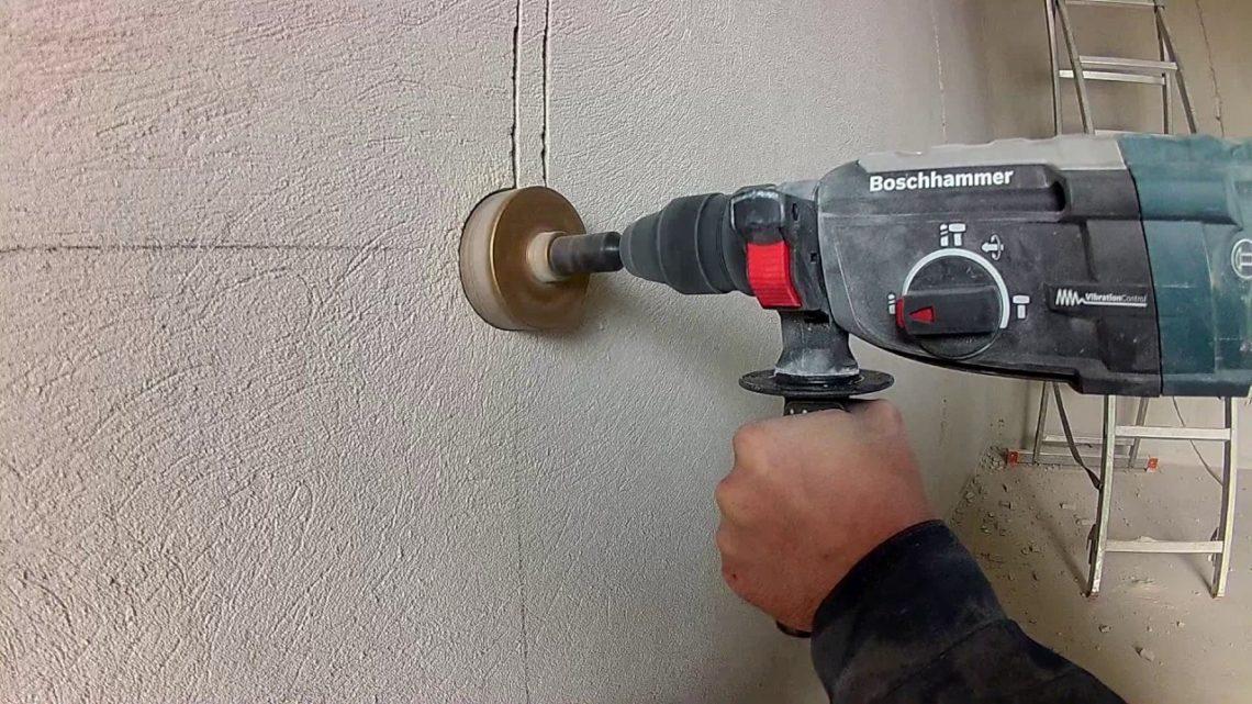 Сверление бетона перфоратором