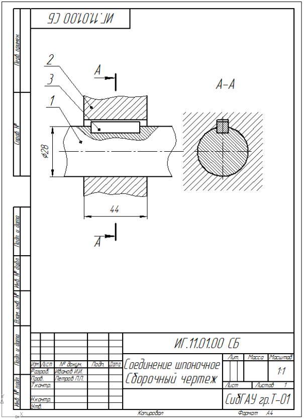 Стандартные ненапряженные шпоночные соединения | pro-techinfo