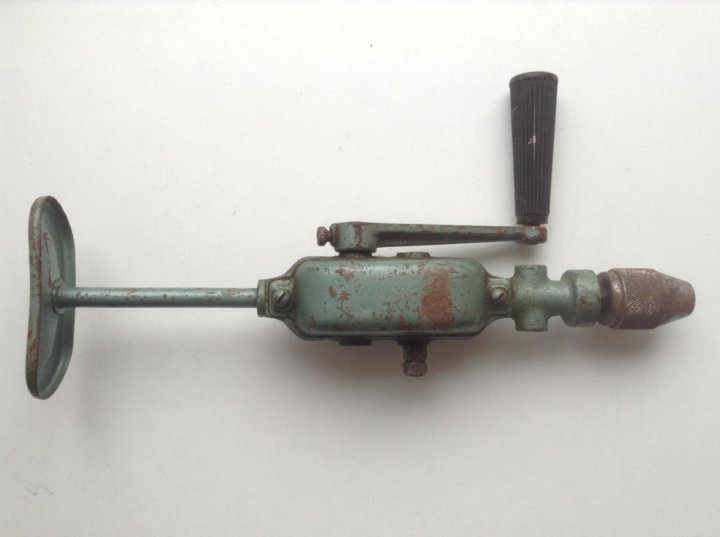 Ручная дрель механическая. привет из ссср   проинструмент