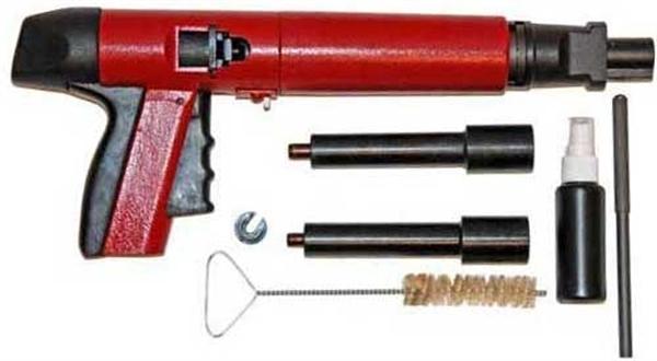 Пороховой монтажный пистолет для дюбелей | проинструмент
