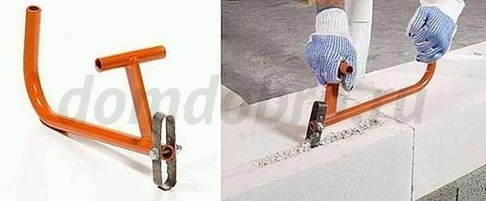 Изготовление ручного штробореза для газобетона в домашних условиях: устройство