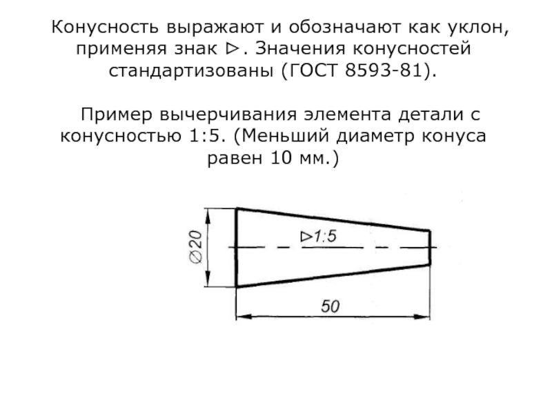 Что значит угол 1 5. что такое конусность? формула для расчёта конусности