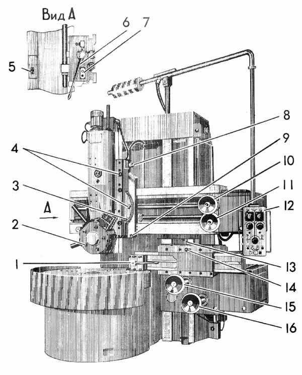 Токарно-карусельный 1512 описание
