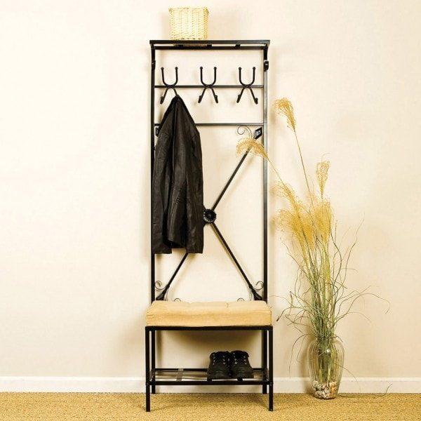 Кованые вешалки в прихожую (38 фото): настенные модели для одежды с ковкой
