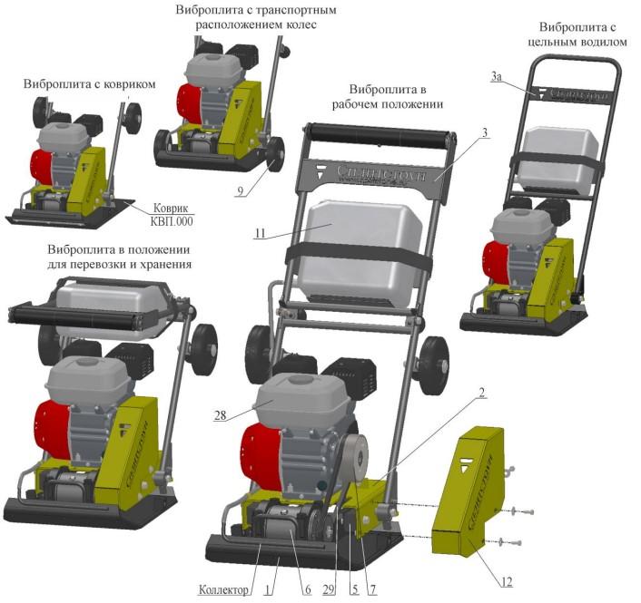 Выбор виброплиты: характеристики электрического, бензинового, дизельного инструмента