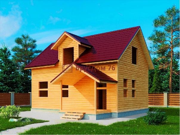 Brusina - компания строит теплые деревянные дома под ключ и под усадку