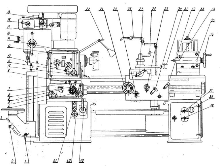 1е61мт станок токарно-винторезный высокой точности схемы, описание, характеристики