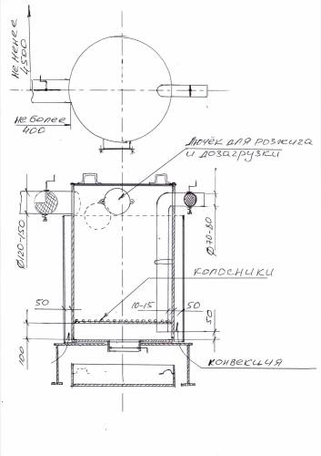Буржуйка из газового баллона: вертикальная, горизонтальная, чертежи, усовершенствования, фото, видео