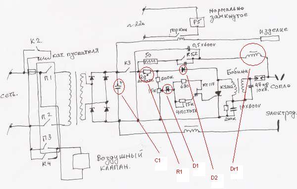 Осциллятор для плазмореза своими руками: схема, видео, самодельный для плазмы