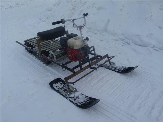 Самодельный снегоход из бензопилы — изготовление своими руками
