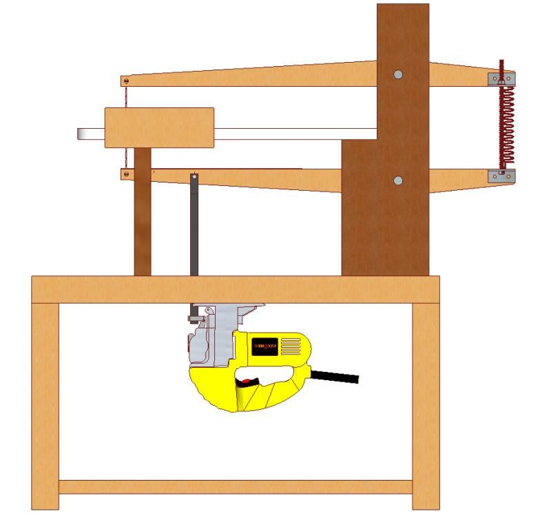 Как своими руками сделать самодельный лобзиковый станок из обычного электрического лобзика