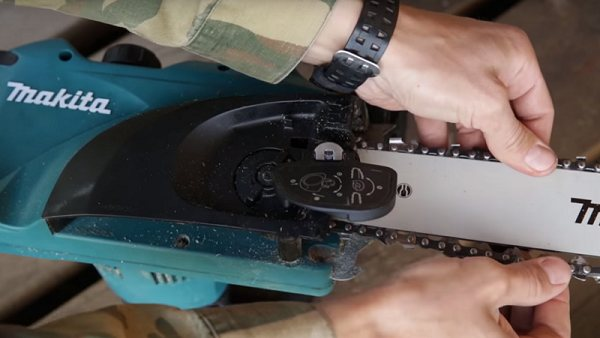 Правильная установка цепи на бензопилу