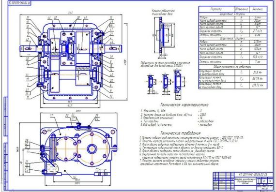 Цилиндрический редуктор