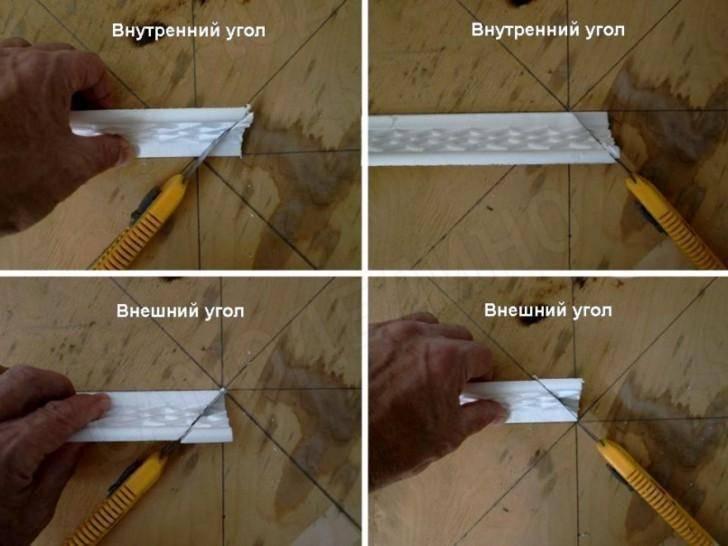 Как правильно вырезать угол на потолочном плинтусе без стусла? - отопление