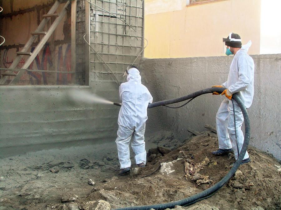 Торкрет бетон: назначение, методы и технология
