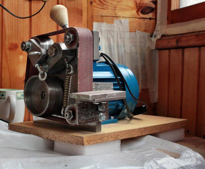 Ленточный гриндер. шлифовальный станок ножедела   проинструмент