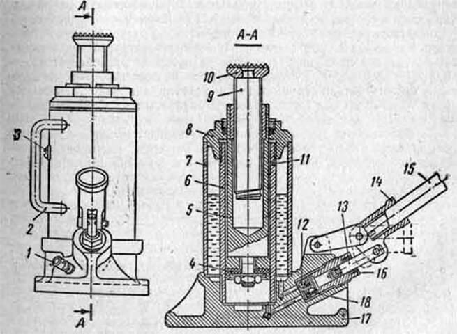 Домкрат гидравлический бутылочный как пользоваться