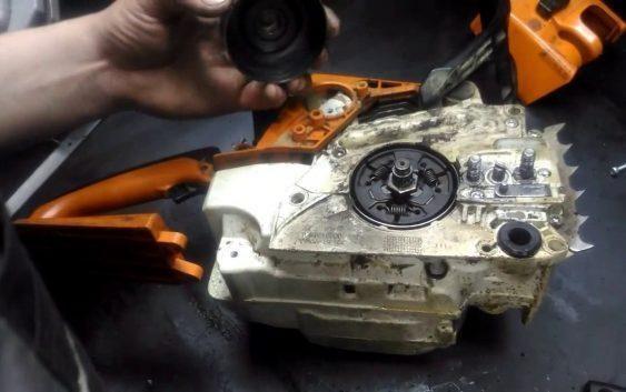Устранение неисправностей масляного насоса: ремонт бензопилы