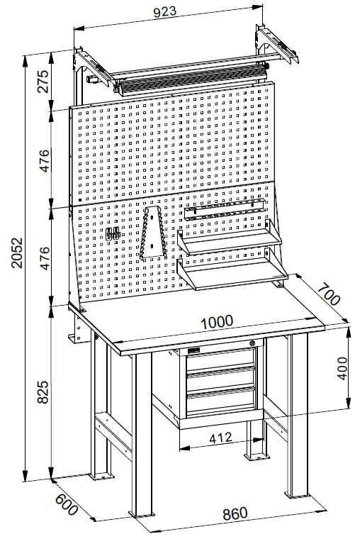 Столярный верстак своими руками: чертежи и размеры