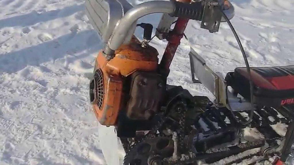 Самодельный снегоход из бензопилы своими руками