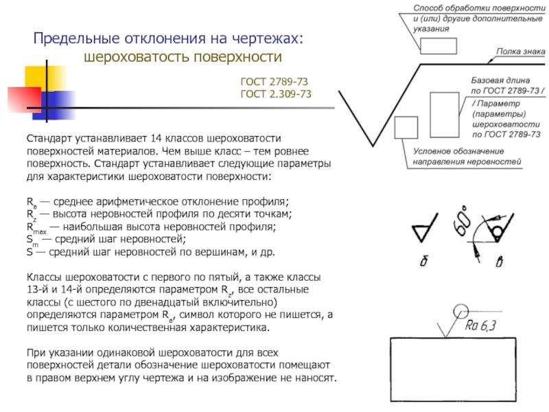 """Гост 2.309-73: """"единая система конструкторской документации. обозначения шероховатости поверхностей"""""""