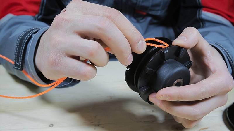Как намотать леску на металлическую катушку триммера - nzizn.ru