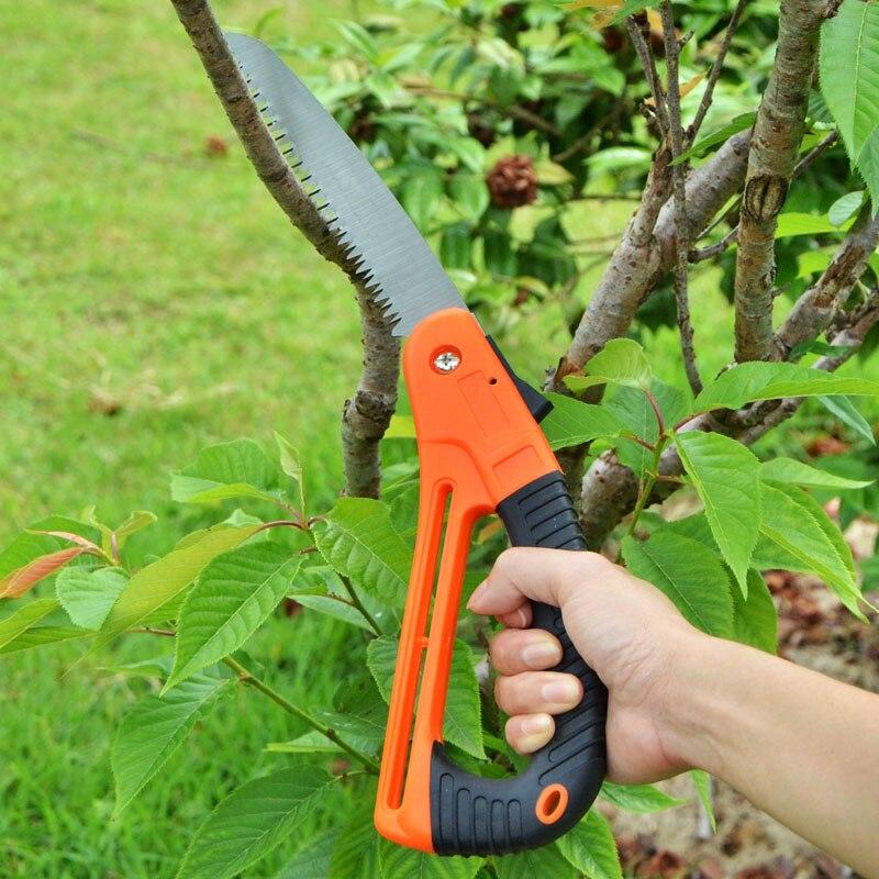 Садовые инструменты: ножовка, секатор, сучкорез.